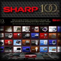 Main menu Facebook Application Sharp 100th Anniversary