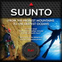 Main menu Facebook Application Suunto